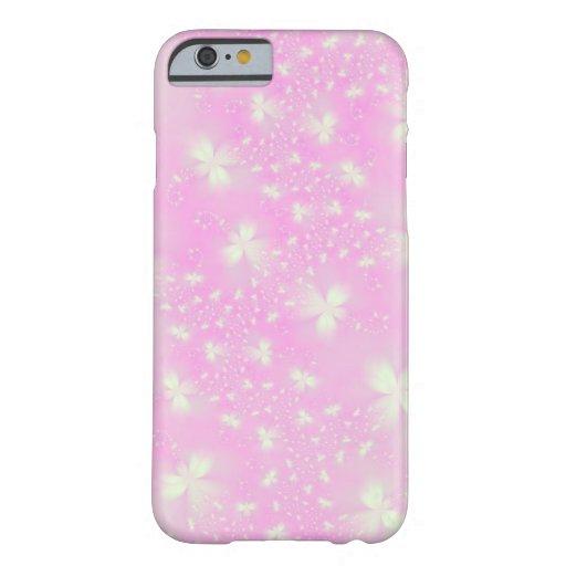 Flutterbyes rosado funda de iPhone 6 slim