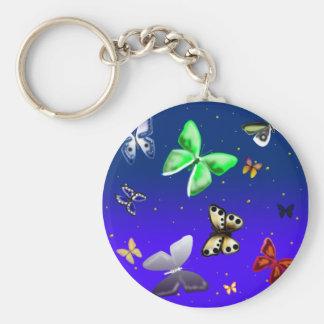 fluttercloud basic round button keychain