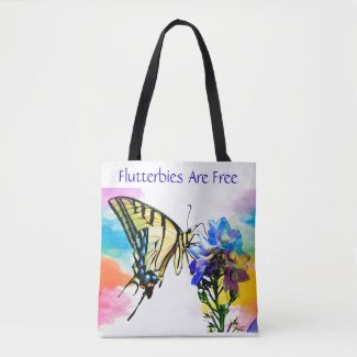 Flutterflies Are Free Tote Bag