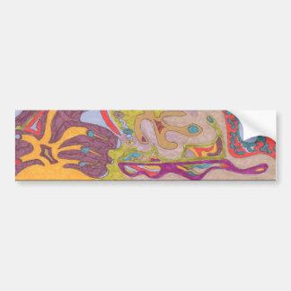 """""""FlutterFly Land"""" Abstract Bumper Sticker"""
