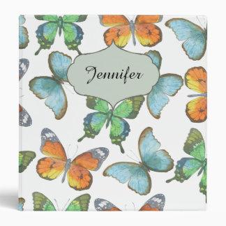 Fluttering Butterflies 3 Ring Binder