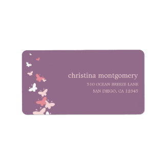Fluttering Butterflies Address Labels