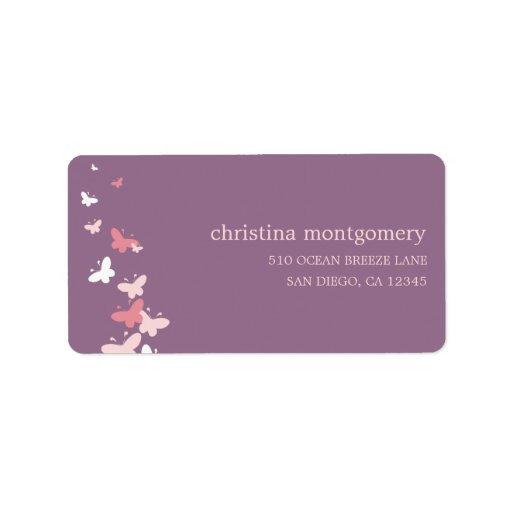 Fluttering Butterflies Address Labels Personalized Address Label