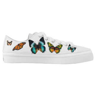 Fluttering Butterflies Low Top Canvas Shoes Printed Shoes