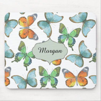 Fluttering Butterflies Mouse Pad