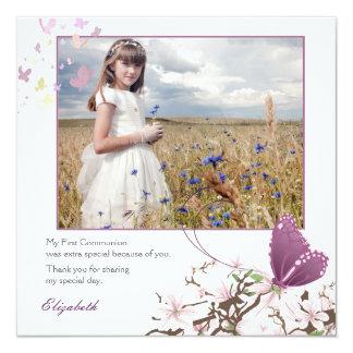 Fluttering Butterflies, Photo Invitation