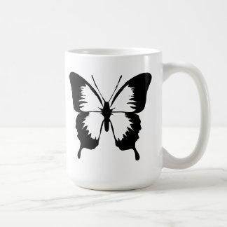 Fluttering Butterfly Silhouette Coffee Mug