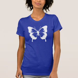 Fluttering Butterfly Silhouette Tshirts