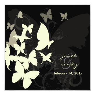 Fluttering by... butterflies cream/black card