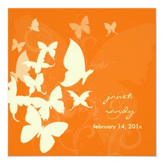 Fluttering by... butterflies cream/orange card
