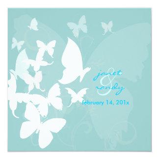 Fluttering by... butterflies white/blue card