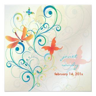 Fluttering by.. dragon fly+butterflies+swirls card