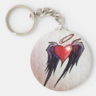 Fluttering Heart Keychain