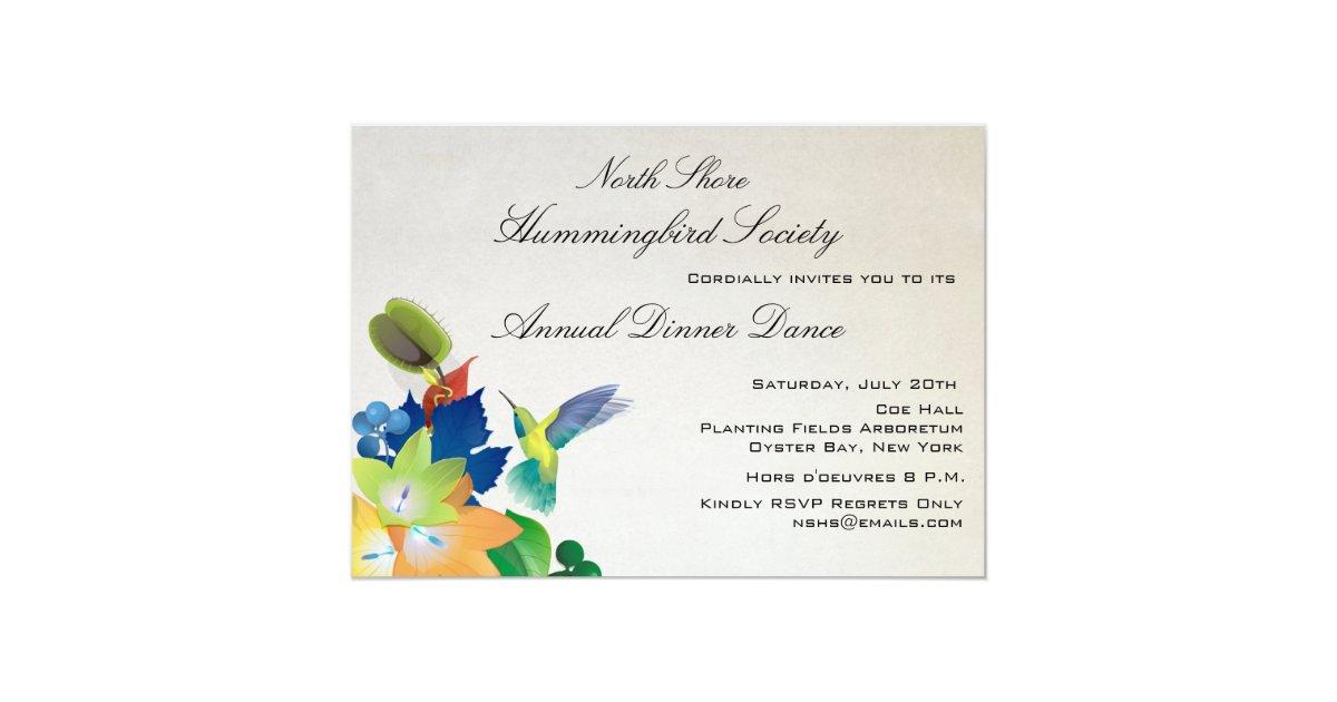 Hummingbird Wedding Invitations: Fluttering Hummingbird Invitation