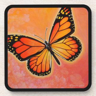 Fluttering Monarch Butterfly coasters