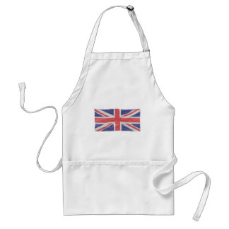 Fluttering Silk Union Jack Adult Apron