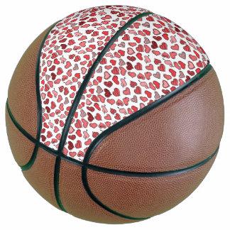 Fluttering simple Valentine hearts pattern Basketball