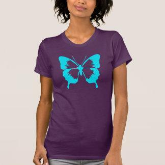 Fluttering Sky Blue Butterfly Silhouette Shirt