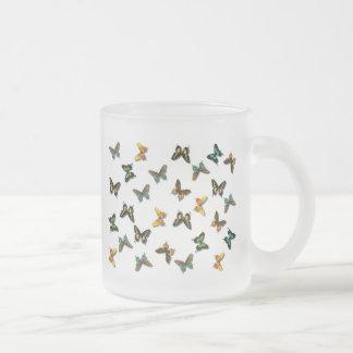 Fluttering Summer Butterflies Frosted Glass Coffee Mug