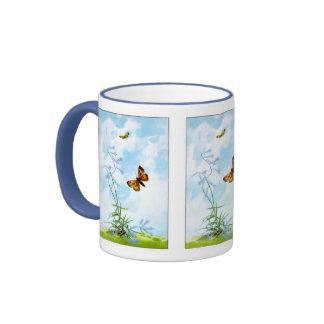 Fluttering Vintage Butterflies Mugs