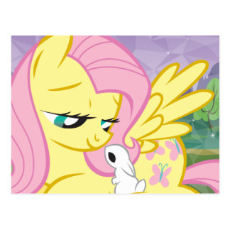 Fluttershy and Angel Postcard