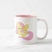 Fluttershy and Angel Two-Tone Coffee Mug
