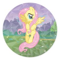 Fluttershy Classic Round Sticker