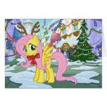 Fluttershy Reindeer Card