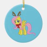 Fluttershy Reindeer Christmas Ornaments