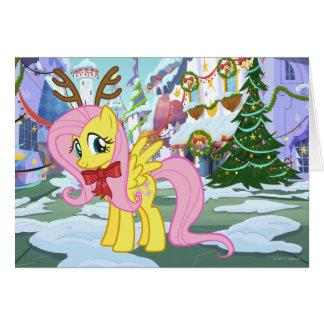 Fluttershy Reindeer Greeting Card