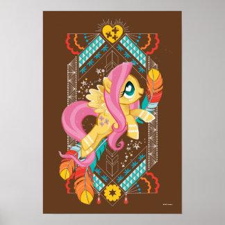 Fluttershy | Tribal Pastels Poster