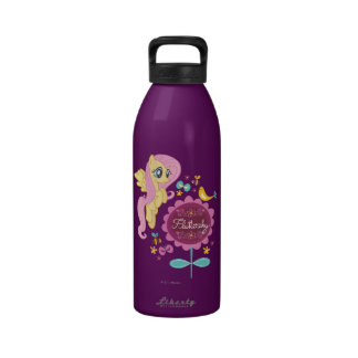 Fluttershy with Birds and Bees Drinking Bottles