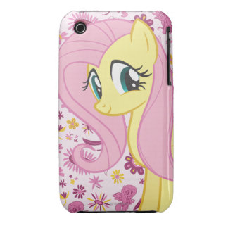 Fluttershy with Birds and Bees iPhone 3 Case
