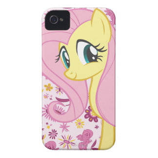 Fluttershy with Birds and Bees iPhone 4 Case-Mate Case