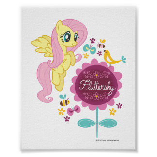 Fluttershy with Birds and Bees Posters