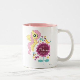 Fluttershy with Birds and Bees Two-Tone Coffee Mug