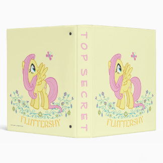 Fluttershy  with Flowers 3 Ring Binder