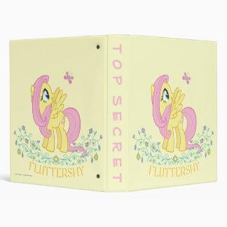 Fluttershy  with Flowers Vinyl Binder