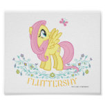 Fluttershy  with Flowers Posters