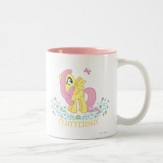 Fluttershy  with Flowers Two-Tone Coffee Mug