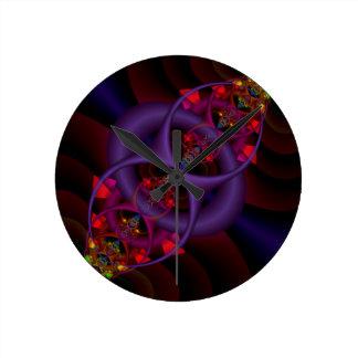 Flux-capacitor Round Clock