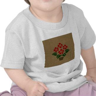 Flwer Weave-like T-shirts