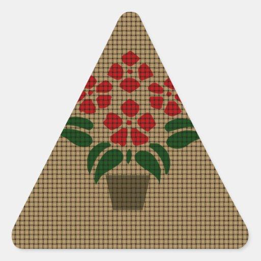 Flwer Weave-like Triangle Sticker