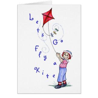 Fly a Kite - Card