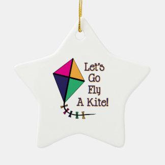 Fly a Kite Ceramic Ornament