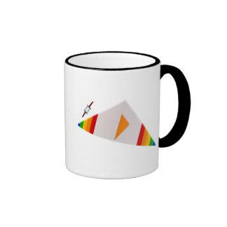 Fly a Kite Design Ringer Coffee Mug