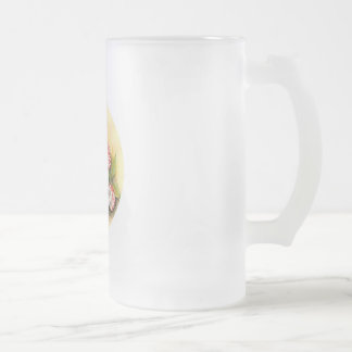 Fly Agaric Collection Frosted Glass Beer Mug