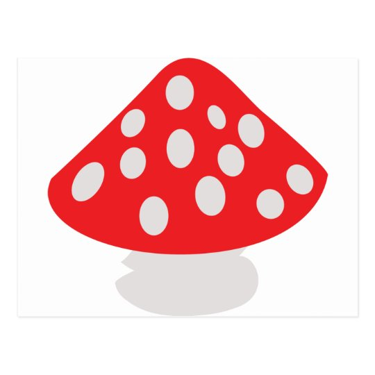 fly agaric icon postcard