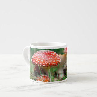 Fly-Agaric In A Forest, Closeup Photo Espresso Cup