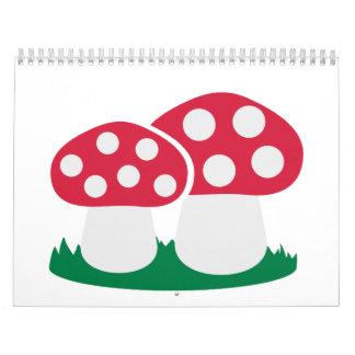 Fly agaric mushroom calendar